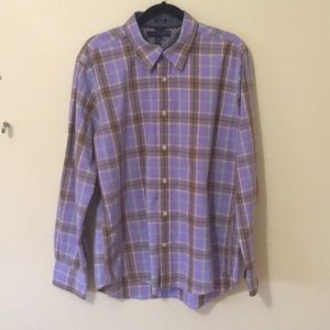 Tommy Hilfiger Slim Shirt Purple Button Front